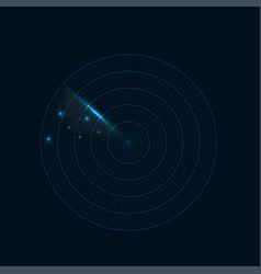realistic radar vector image