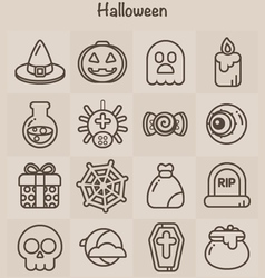 Outline icons set halloween vector