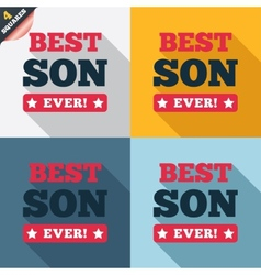 Best son ever sign icon award symbol vector