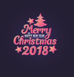 2018 merry christmas and happy new year modern vector image vector image