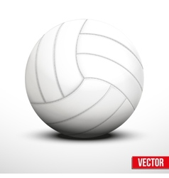 Volleyball in traditional color on white vector