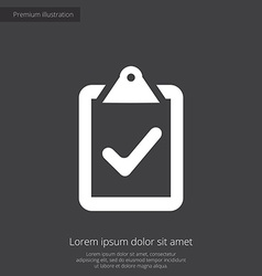 Vote premium icon white on dark background vector