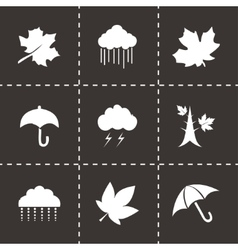 Autumn icon set vector
