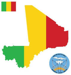 Republic of mali flag vector