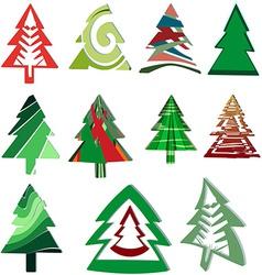 Icons Christmas trees vector image