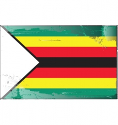 zimbabwe national flag vector image