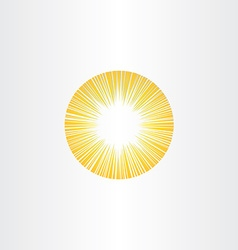 sunshine rays sun icon solar energy vector image