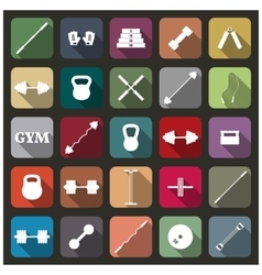 Icons equipment for the gym vector