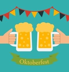 Advertise flyer with decoration for oktoberfest vector