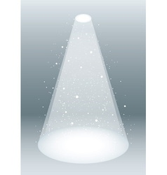 Snow falling in spotlight vector