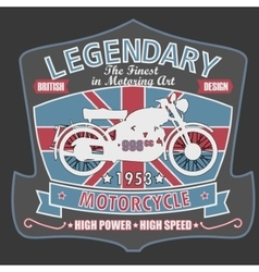 British motorcycle t-shirt design vector
