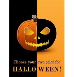 Poster choose your own color for halloween vector