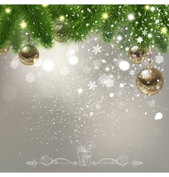 Christmas background with falling snowflakes vector