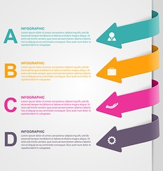 Colorful arrow options infographic vector