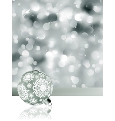 Elegant christmas background with baubles eps 8 vector