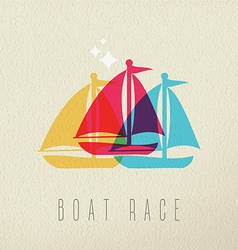 Boat race colorful summer concept background vector