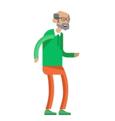 Cool flat character design on senior vector