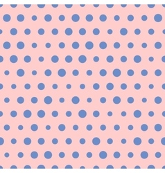 Random pattern big and small blue polka vector