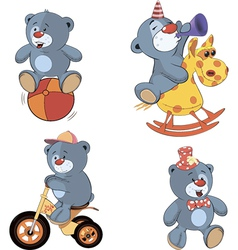 A set of bears cartoon vector