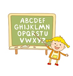 ABC for kids alphabet kids children fun vector image