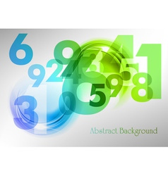 Abstract shape with numbers green vector