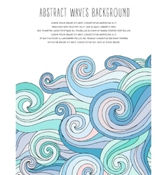 Abstract waves background Template for business vector image