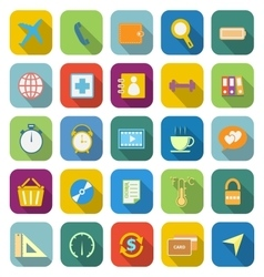 Application color icons with long shadowset 2 vector