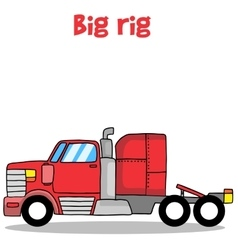 Big rig truck of vector image vector image