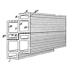 Building block vintage vector
