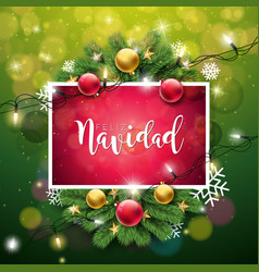 Christmas with spanish feliz vector