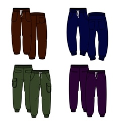 Color trousers vector