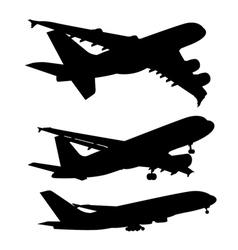 Commercial aircraft symbol shadow vector