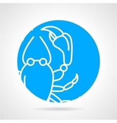 Crayfish round icon vector