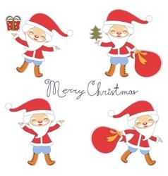 Cute Santas collection vector image vector image