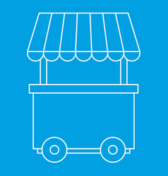Fast food trolley wheel icon outline style vector