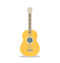 flat guitar musical instrument flat vector image