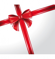 gift wrap ribbon vector image vector image