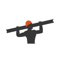 Helmet metal constructer worker industry icon vector
