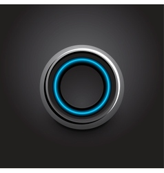 hi-tech light button design vector image