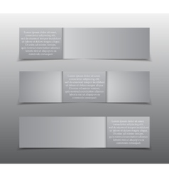 Horizontal rectangle grey paper banner mockup vector