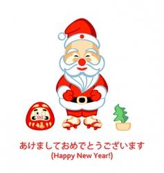 Japanese Santa vector image vector image