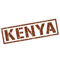Kenya brown square stamp vector