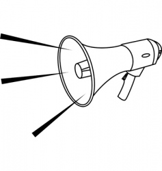 megaphone illustration vector image