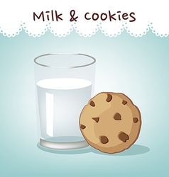 milk n cookie vector image vector image