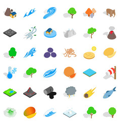 our earth icons set isometric style vector image vector image