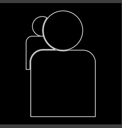 People or two avatar the white path icon vector