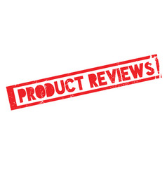 Product reviews rubber stamp vector