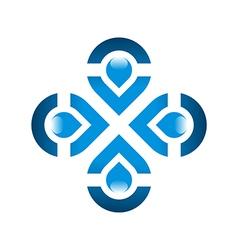 Pure water drop symbol icon liquid vector