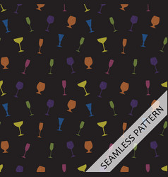 seamless pattern c in glasses of different shapes vector image