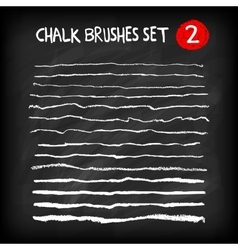 Set of chalk brushes vector image